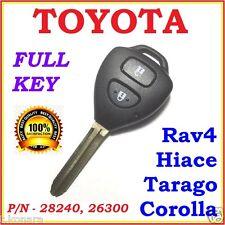 Toyota Remote Key Corolla Rav4 Tarago Hiace Two Buttons - 28240