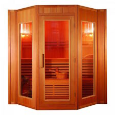 XXXL Luxus Finnische Sauna SET Sauna inkl. Harvia Saunaofen Modell 2021  5 Pers.