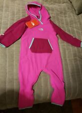 The North Face Girls Kids Toddler 24 Month Pink 1 Piece Fleece Snow Suit