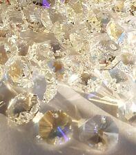 ���� 100 14mm Ab 2hole Agrade OCTAGON crystal suncatcher pendant beads-jewellery