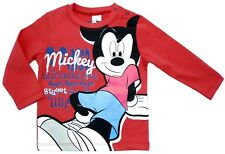 NEU! Disney Mickey Mouse Langarmshirt Longsleeve Shirt Baumwolle rot 80