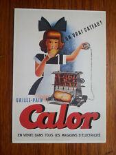 CALOR GRILLE PAIN french toaster  publicité carte postale  advert postcard