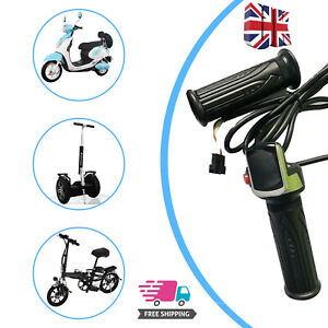 Electric Scooter E-Bicycle Throttle Grip Handlebar Grips LED Display Meter 6pin