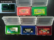 Pokemon Fire Red Leaf Green Ruby Emerald Sapphire Game Boy Advance Nintendo