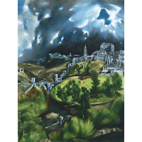 El Greco View Of Toledo Spain Expressive Painting Large Canvas Art Print