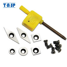 6PCS Carbide Cutter Inserts Tools Set Replacement Cutter Hollowers Finishers