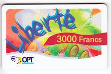 NOUVELLE CALEDONIE TELECARTE / PHONECARD .. LIBERTE 3.000F ART PETIT N° 12/2004