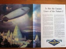 Good Year Blimps, the Next Luxury Liners? ,original WWII Ad