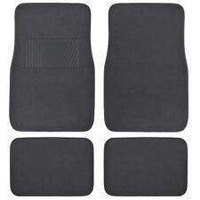Supreme Plush 4 Piece High Quality Carpet Auto Car Floor Mats Solid Charcoal