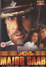 MAJOR SAAB - EROS BOLLYWOOD DVD - Amitabh Bachchan, Ajay Devgan, Sonali Bendre
