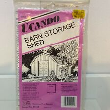 Ucando Barn Storage Shed Pattern Plans Building B2054 Material List 1987 New