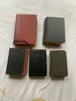 Lot 5 Vintage Bible Early 1900's-50's All Nice Condition