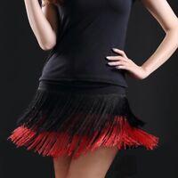 Latin Dance Skirts Tango Rumba Salsa Cha-cha Ballroom Fringe Tassels Dancedress