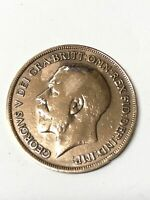 George V One Penny 1917 Coin England