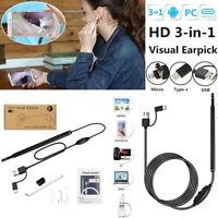 3In1 Usb Earpick Mini Camera Endoscope Ear Cleaning Tool Hd Visual Ear Spoon