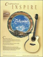 Takamine Limited Edition LTD '99 acoustic guitar advertisement 1999 ad print