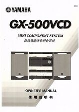 Yamaha  Bedienungsanleitung user manual owners manual  für GX- 500 VCD  Copy