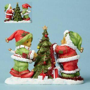 CHERISHED TEDDIES 2016 FIGURINE, GWNAR, BJORN, ELVES, CHRISTMAS TREE 405343, NIB