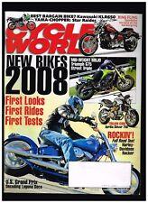 CYCLE WORLD NOVEMBER 2007 APRLIA SHIVER 750 KAWASAKI KLR650 TRIUMPH 675 TRIPLE