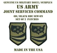 LOT OF 2 US MILITARY PATCH PATCHES JOINT FORCES COMMAND ARMY UNIFORM BDU SUBDUED