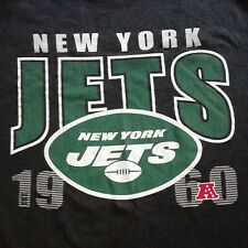 New York Jets NFL Classic Grey Team Logo EST. 1960 Medium T-Shirt