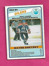 1984-85 OPC # 357 OILERS WAYNE GRETZKY GOAL  LD VG+  CARD (INV# C5278)