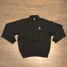 FootJoy 1/2 Zip Golf Pullover Jacket L/S Black Men's Size M Medium Embroidered