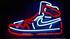 Red White Artwork Game Room Custom Neon Sign Basketball Sneaker LightWall Decor