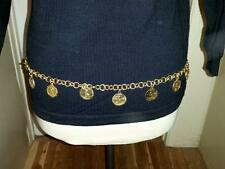 Vintage Roberta Di Camerino Belt Collectible HTF Gold Tone Chain Chunky Charms