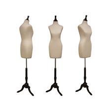 Female Adult Coat Form Mannequin Torso Pinnable Dress Form With Black Wood Base
