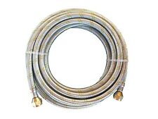Natural Propane Gas Hose 16ft Stainless Steel Braided Line LP LPG
