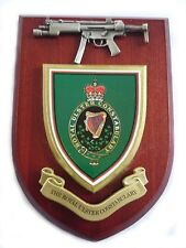 Royal Ulster Constabulary Police Force with Pewter MP5 Military Wall Plaque