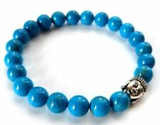 Handmade Turquoise Silver Plated Beaded Costume Bracelets