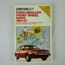 Chilton's Repair Manual 7055 Ford Mercury Front Wheel Drive 1981-87(Fits: Lynx)
