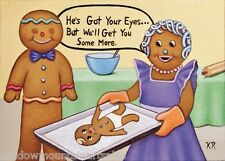 Gingerbread family ACEO signed limited 25 edition  Karen Romine free shipping KR