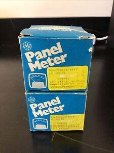 2 GE Panel Meters Model D163 0-300 D-C Volts