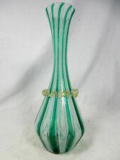 "Well shaped / formschöne  "" Filigrana "" Murano Glass / glass vase 20,5 cm"