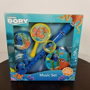 Disney Pixar Finding Dory Nemo Music Set Maracas Flute Recorder Tambourine