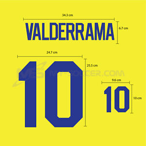 VALDERRAMA #10 Colombia Home World Cup 1994 PU SOCCER FOOTBALL PRINT