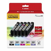 Canon CLI-281 Ink Cartridge/Paper Kit Combo Pack Ink Cartridge/Paper Kit