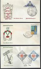 IRAQ 1965 THREE FDCs WITH CACHETS PROPHET MOHAMMEDS BIRTHDAY ANNIV OF REVELUTION
