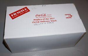 1927 Coca Cola Delivery Truck 1/24 Danbury Mint Diecast New In Box.
