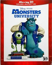Monster University Disney Pixar Blu-Ray 3D Dvd Sigillato
