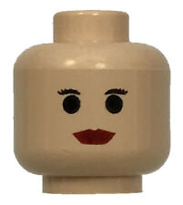 Lego New Light Flesh Minifig Head Modified Dobby Type 2 with Lime Green Eyes
