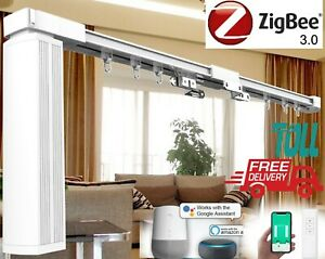 New AU Approved Smart home Zigbee Motorised Curtain Rail track APP remote voice