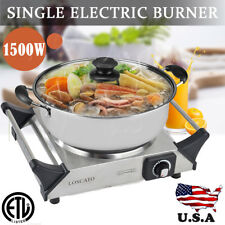 1500W Portable Electric Cast Iron Cooktop Countertop Single Burner Kitchen Stove