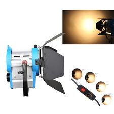 FS650 650W film Fresnel tungstène projecteur éclairage Studio vidéo Barndoor dim