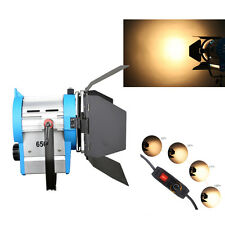 FS650 650W Film Fresnel Wolfram Spotlight Beleuchtung Studio Video Barndoor dimm
