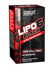 Nutrex LIPO 6 Black Ultra Concentrate / Fat Burner 60 Caps - Black series-