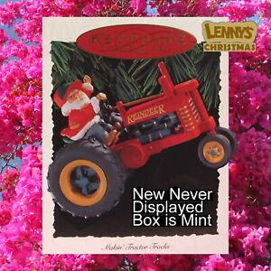 Hallmark Ornament, 1994 Makin' Making Tractor Tracks, Here Comes Santa, New